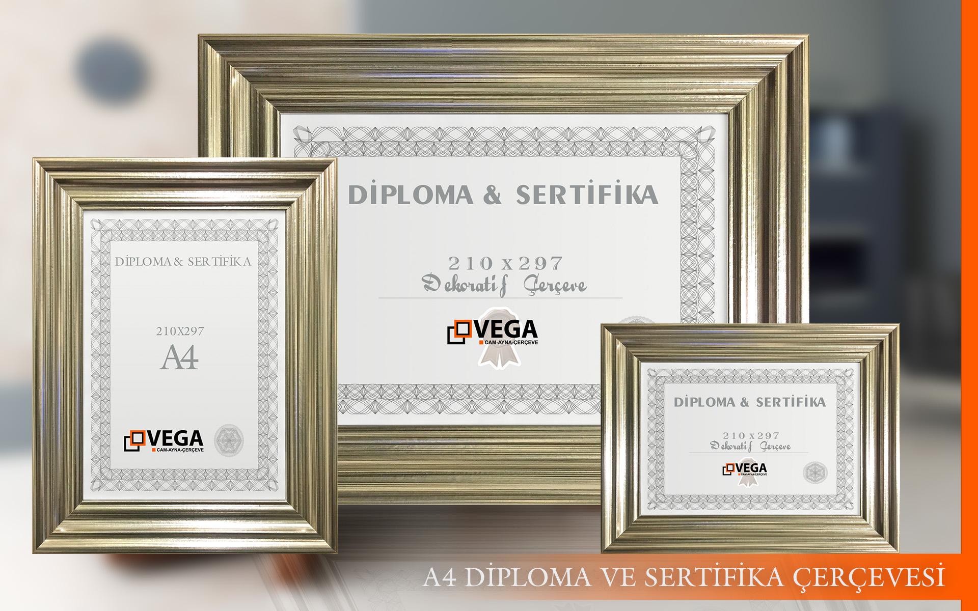 a4 diploma sertifika çerçeveleri
